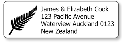 silver fern return address labels