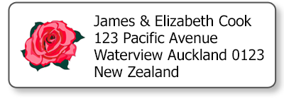 red rose return address labels
