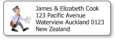 postman return address labels